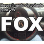 Capa De Couro Costurada Para Volante Do Fox Vw