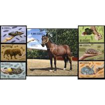 3261 Animales Domestico Cuba Hoja Recuerdo 6 P Mint N H 2013