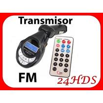 Transmisor Fm 18 En 1 Control Remoto Puerto Usb Sd Mp3 Carro