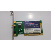 Placa De Rede Pci Wireless P/ Desktop D-link Dwl-g520 Wi-fi