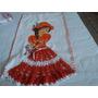 Kit Com 12pano De Copa Pintado Com Crocher