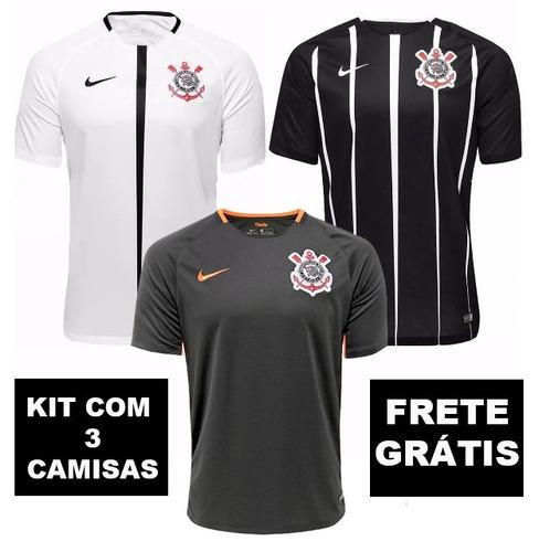 df327525a5 Novas Camisas Corinthians Kit Original Torcedor Frete Gratis - R  140