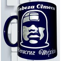 Taza Grabada Cabeza Olmeca