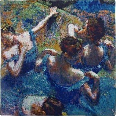 c17afe7d7b1 Cuadro Bailarinas Azules- E.degas 60x60 -   2.890