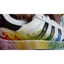 Original 100% Adidassuperstar Originals Rainbow Paint Nba