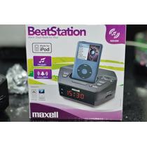 Corneta Maxell Reloj Radio Despertador Para Ipod