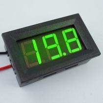 Voltimetro Digital Medidor Bateria Moldura Azul Menor Frete