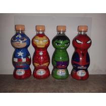 Garrafinha Água Vingadores Capitão América Homem Ferro Hulk