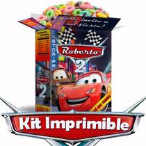 Kit Imprimible Cars, Rayo Mcqueen, Decoraciones Para Fiesta