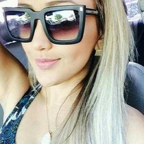 Oculos Feminino Máscara Quadrado - Brinde Case Triangular