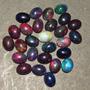 Hermosos Opalos Negros Naturales No Sinteticos 8x 7 Mm