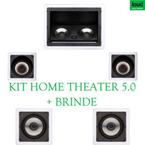 Caixa Teto Gesso Home Theater Kit Completo Embutir 5.0