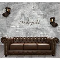 Estofados Chesterfield Em Couro Legítimo Natural