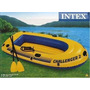 Bote Inflable Challenger Intex 2 Pers- Con Remos -e Inflador