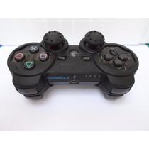 2 Kits Completo De Capa E Grips Para Controle Ps3 Preto