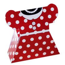 Dulcero Vestido Fiesta Mimi Minnie Mouse Caja Mesa Palomitas