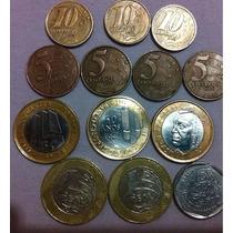 Vendo 13 ,moedas Raras De 10 E 5 E 25 Centavos E De 1 Real