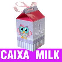 Caixa Milk (leite)surpresa Personalizada Todos Os Temas