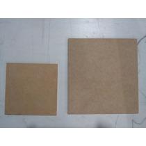 Pack X50 Cuadrados 10x10cm Madera Fibrofacil De 3mm