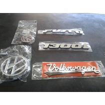 Kit Emblema Fusca Mala Capo Fusca 1300l + Volkswagen