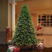 Ge, Árbol De Navidad Artificial De 2.2 Metros Con 700 Luces