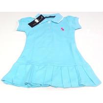 Hermoso Vestido Casual Para Bebes Polo Talla 6 A 9 Meses