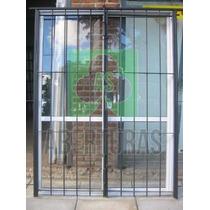 Aberturas: Puerta Ventana Bl Ent 150x200 C/vid Y Reja