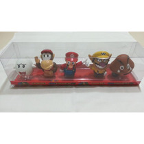 Mario Bros Caja De Coleccion De 5 Minifiguras