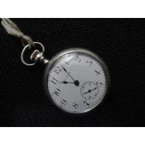 Antiguo Reloj De Plata, Elgin De Bosillo Para Dama