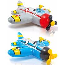Avion Inflable Flotador Intex Pileta C/ Pistola Agua Oferta!
