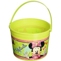 Tobo Plastico Cotillon O Centro De Mesa Minnie Mouse