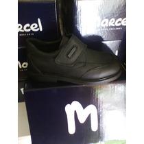 Zapatos Colegial Marcel Cuero100%confort Abrojo Varón 27/33