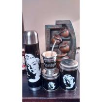 Kit Matero,termo ,azucarera,yerbera Y Mate Diseño Marilyn