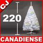 Arbol Navidad 220 Blanco Canadiense Pino Artificial Pachon