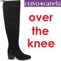 Bota Over The Knee Cravo E Canela Couro Acima Joelho 144203