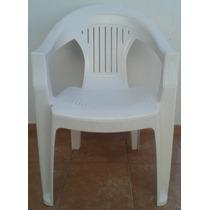 Silla Apilable Plastica Color Blanca Directo De Fabrica