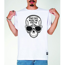 Camiseta Caveira Rock , Pop , Swag, Skate, Bmx, Long Board