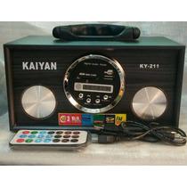 Super Caixa De Som Portátil Kaiyan Ky-211 No Leilão