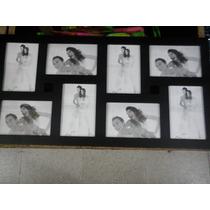 Portaretrato Múltiple Cuadro 8 Fotos 10 X 15 Blanco O Negro