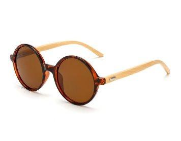 2ab202bced6e4 Óculos De Sol Feminino Redondo Madeira Uv-400 Estiloso Lindo - R  39,00 em  Mercado Livre