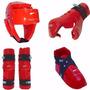 Combo Kids Cabezal+guante+zapato+tibial Sparring Taekwondo