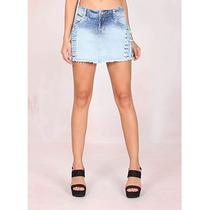 Shorts/saia Jeans Destroyed Feminino Max Denim
