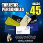 Tarjetas Personales Full Color Couche 300 Gr En 24 Horas