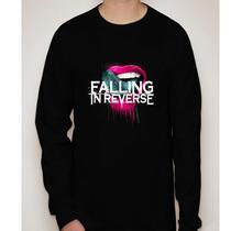 Camiseta Manga Longa Falling In Reverse -banda De Rock