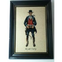 Cuadro Punto De Cruz Wyatt Earp Sheriffl Adornos De Bar