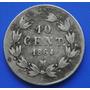 Moneda 10 Centavos Maximiliano 1864 Mo Plata Excelente