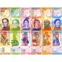 Billetes D Venezuela 07-13 Simón Bolívar Colección Completa
