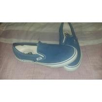 Alpargatas Vans Color Azul Talle 39. 3 Usos