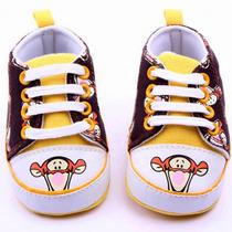 Sapato Tênis Infantil Bebê Tigrão The Pooh Disney Importado