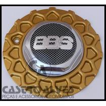 Calotinha Calota Central Roda Aro 17 Bbs Zunky Dourada